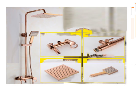 Copper body shower set electroplated rose gold shower set with concealed water mixing valve sprinkler head one key threeCopper body shower set electroplated rose gold shower set with concealed water mixing valve sprinkler head one key three