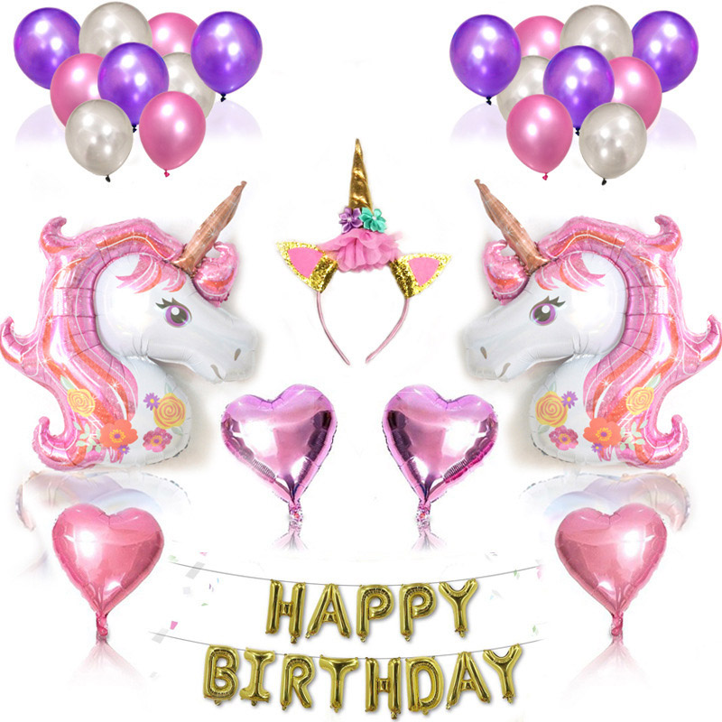 10Pcs Flamingo Hand Held Stick Foil Balloon Birthday Party Decoration Kids Toys