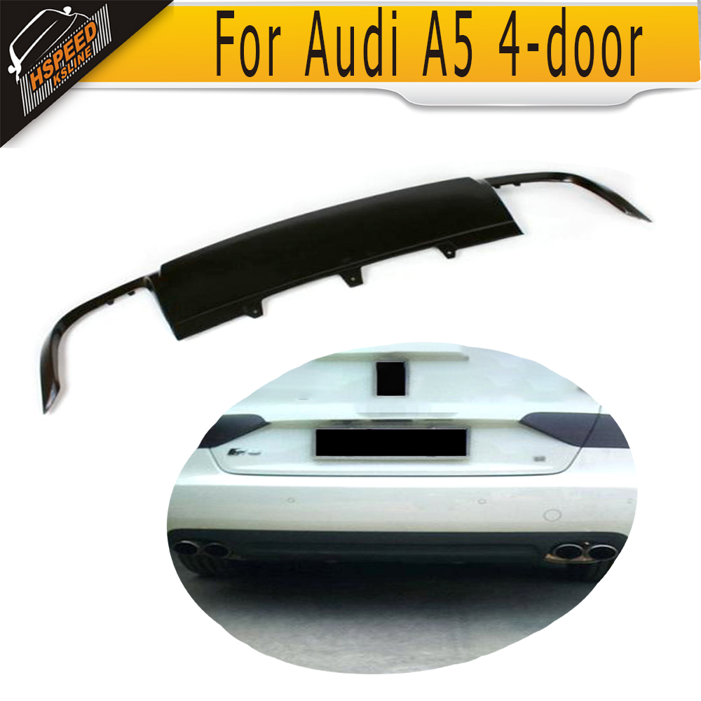 PU Rear bumper lip diffuser Fit for Audi A5 4 door Standard 2008-2011 Non-Sline S5 styling pu car rear bumper lip diffuser fit for vw passat cc 2008 2012