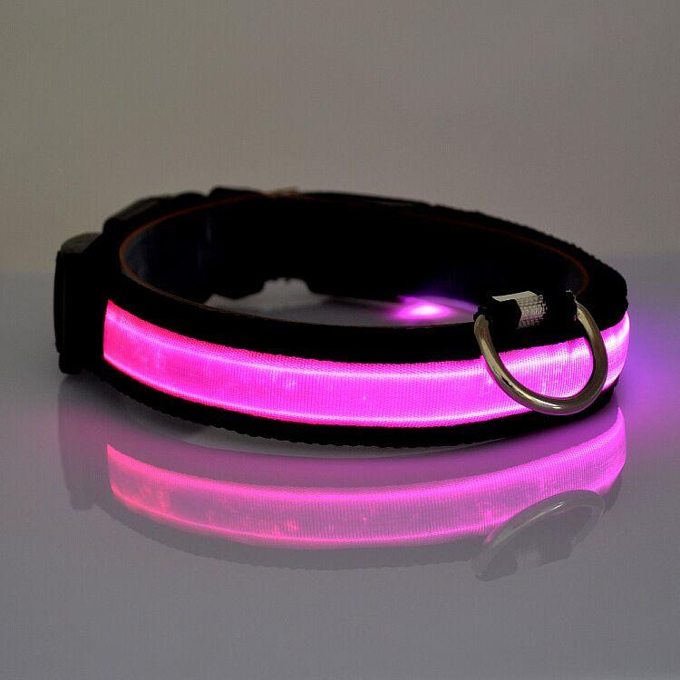 D06 naminių gyvūnėlių šunų apykaklės LED šviesos nailono - Naminių gyvūnėlių produktai - Nuotrauka 3