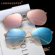 LongKeeper Fashion Retro Steampunk Sunglasses Women Men Round Metal Sun glasses Female Mirror Eyewear UV400 Gafas