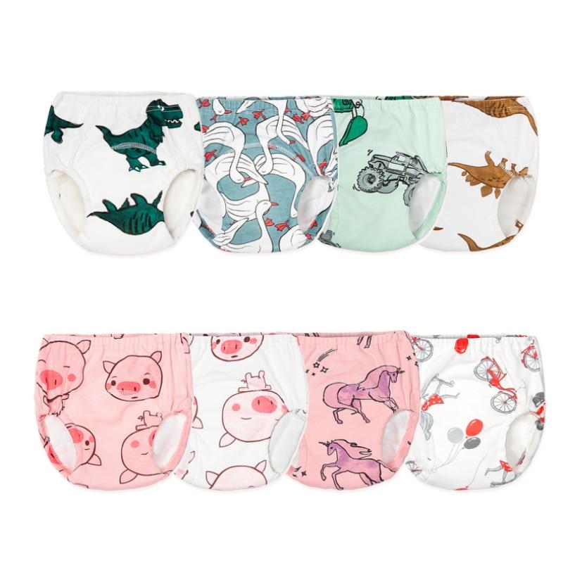Child's Underwear Baby Diaper Pants Child's Toilet Training Underwear Waterproof Panties Learning Pants Cotton Washable