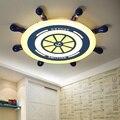 Детская комната светодиодные потолочные светильники современный пиратский корабль дизайн простота защиты зрения детская комната потолоч...
