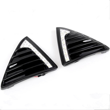 New Gloss Model LED Car DRL daytime running light Bumper Front Fog lamp with dimming style for Ford Focus 3 2012 2013 2014