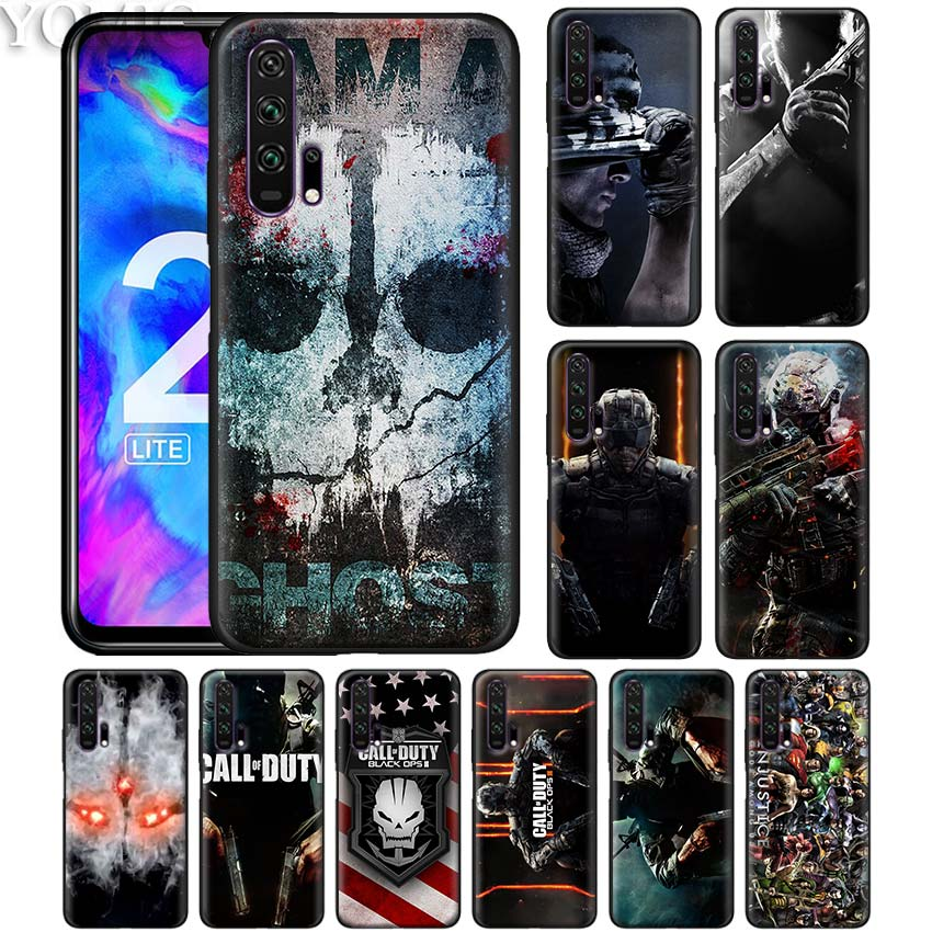 cool Call of Dutys Superheroes Black Silicone Case for Huawei Honor 20 Pro 10 20 Lite 8X 8S 8C 8A View 20 Y9 2019 Soft Case Cove image