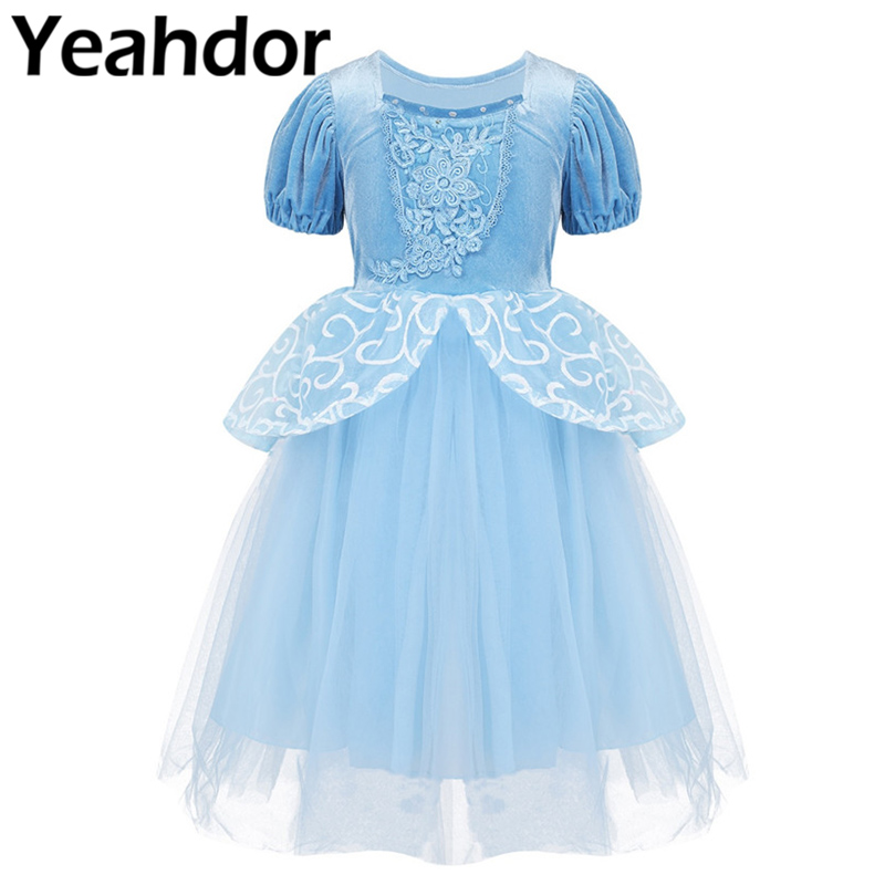 Girls Halloween Dress Up Cosplay Party Costumes Child Fairy Tale Princess Dress