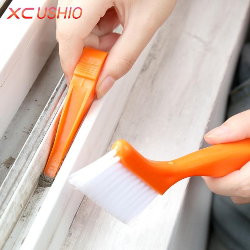 2 in 1 többcélú ablaktörlő tisztító kefe nyakörv háztartási billentyűzet otthoni konyha összecsukható kefe tisztító eszköz