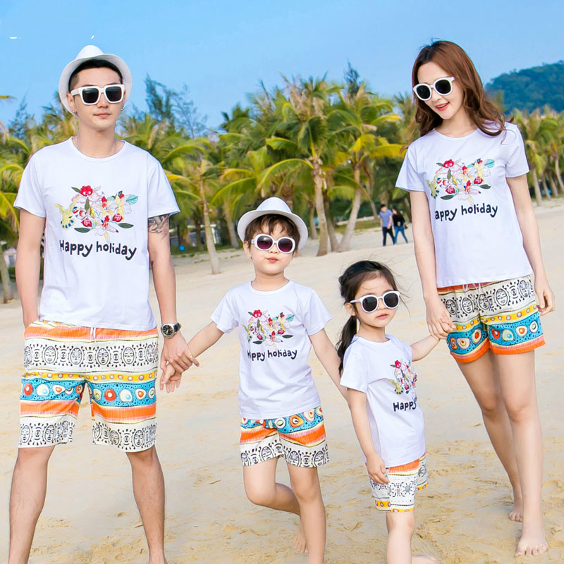 Household Matching Garments Trip seaside sample T-shirt +pants Household Matching Outfit Household Clothes Mom Daughter Garments matching outfits household, household matching, household matching garments,Low cost matching outfits household,Excessive High...