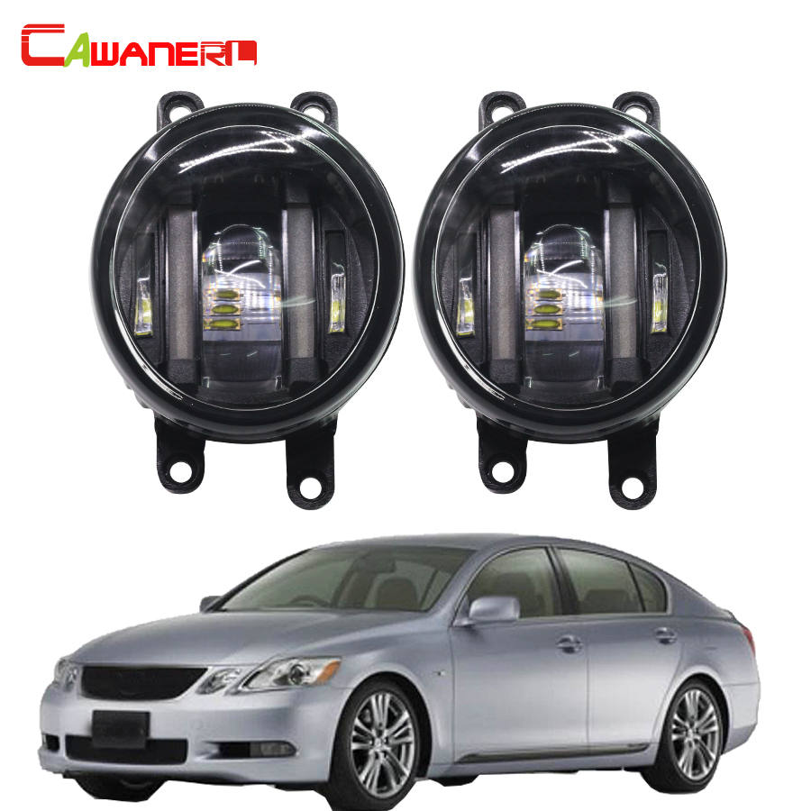 Cawanerl 2 Pieces Car LED Fog Light White Daytime Running Lamp DRL 12V For Lexus GS 450h GS450h (GRL1_, GWL1_) 2012 Onwards cawanerl for toyota highlander 2008 2012 car styling left right fog light led drl daytime running lamp white 12v 2 pieces