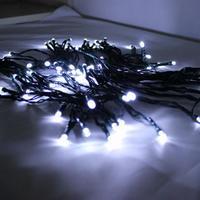 Waterproof 12M 100 LED Solar Panel LED String Light Garden Outdoor Christmas Light (White)
