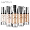 Langmanni 6 Farben Volle Abdeckung Flüssigkeit Concealer 6ml Auge Augenringe Creme Make-Up Gesicht Corrector Wasserdichte Make-Up Basis kosmetische
