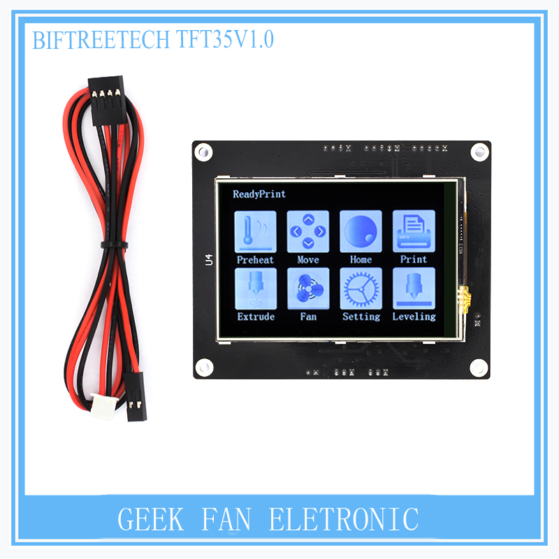 где купить BIGTREETECH TFT35 V1.0 control panel 3.5 inch full-color touch screen MKS is similar MKS base for 3d printer дешево
