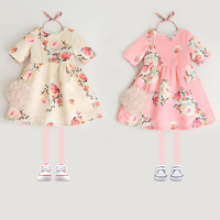 2018 Summer Baby Girls Party Dress Children Printed Floral Dress Kids High Quality Clothes Hot Sale