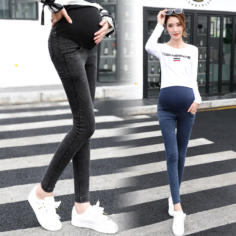 408102ebf4 Anya denim overall nadrág grosses Női Jeans Terhes ceruza Prop Pants ...