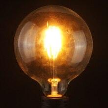 Bombilla de filamento LED 8W E27 Vintage Edison filamento caliente globo blanco COB luz LED Retro Vintage antiguo lámpara bombilla de cristal 220-240V