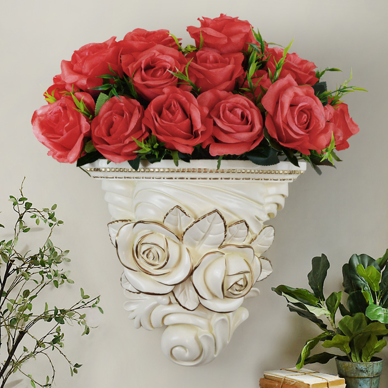 Pots de fleurs créatifs décoration murale 3D tenture murale décoration de la maison salon fond Mural ornements R1461