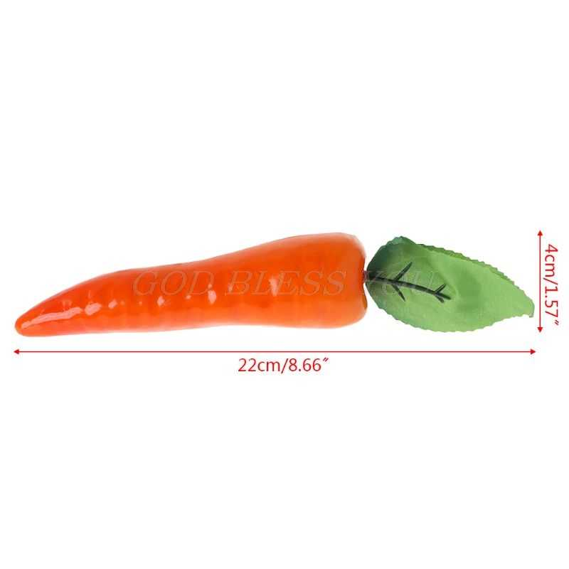 Lifelike Artificial Carrot Simulation Fake Vegetable Photo Props Home Kitchen Decoration Kids Teaching Toy