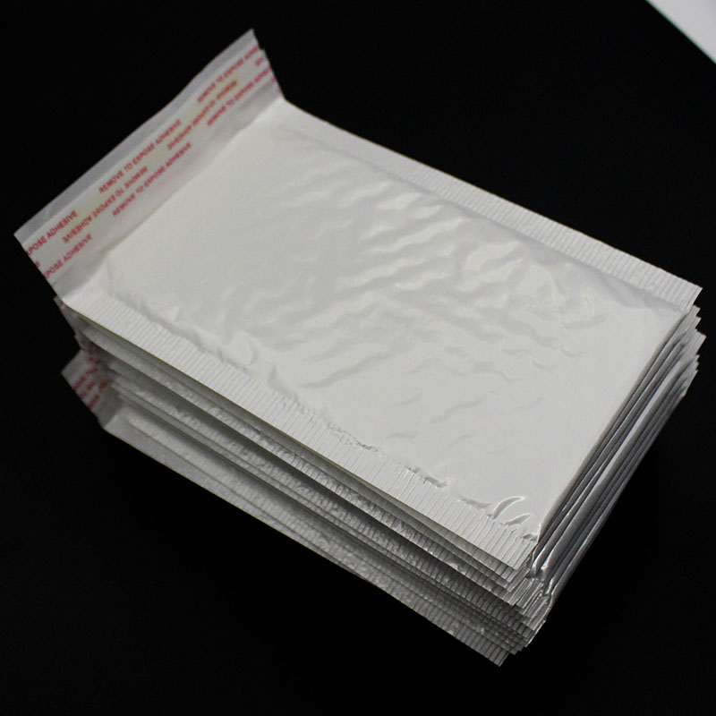 10 PCS / Batch 120 * 180mm White Pearl Bubble Envelope Bag Wrap Pad Transport Envelope With Bubble Bag Business Supplies