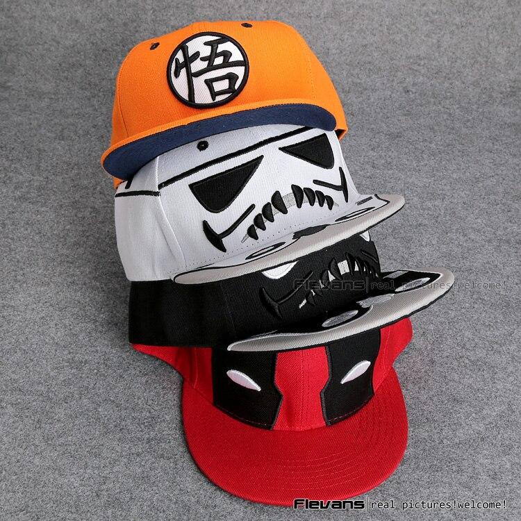 5230cb396 US $7.73 14% OFF|Aliexpress.com : Buy Fashion Cool Men Baseball Cap  Stormtrooper / Darth Vader / Dragon Ball / Deadpool Snapback Caps B Boy Hip  Hop ...