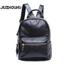 Women Backpack Genuine Leather Famous Designer Fashion Knapsack For Girl Travel Shoulder Bag Mochilas Simple Classic Rucksack