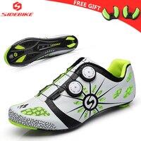 ציוד האולטרה פחמן נעלי רכיבה אופני כביש מירוץ גברים אתלטים מקצועיים אופניים עצמי נעילת נעלי רכיבה על אופניים נעלי ספורט לנשימה