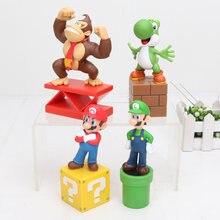 13Cm 4 Stijlen Super Bros Action Figure Model Toy Donkey Kong Yoshi Pvc Poppen Speelgoed