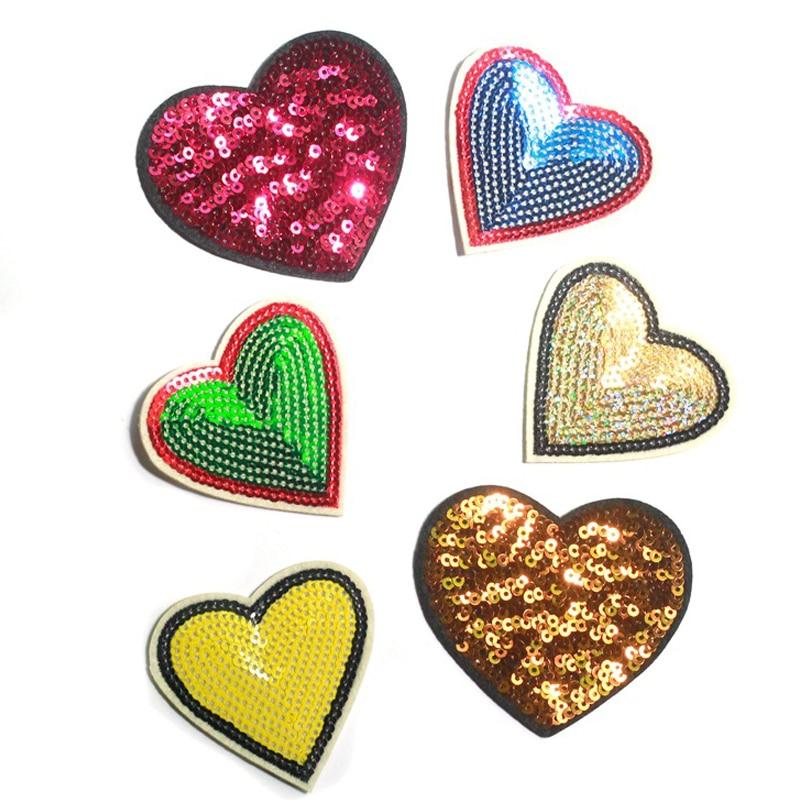 Серце заліза на патч Sequin вишиті патчі - Мистецтво, ремесла та шиття