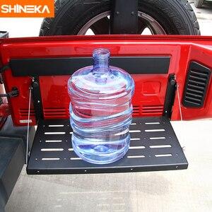 Image 3 - SHINEKA Metal Flexible Tailgate Table Rear Trunk Door Rack Cargo Luggage Holder Carrier Shelf For Jeep Wrangler JK 2007 2017