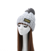 Women S Hats NYC Letter Female Autumn Fashion Thermal Knitted Winter Hat Female Women Knitted Hats