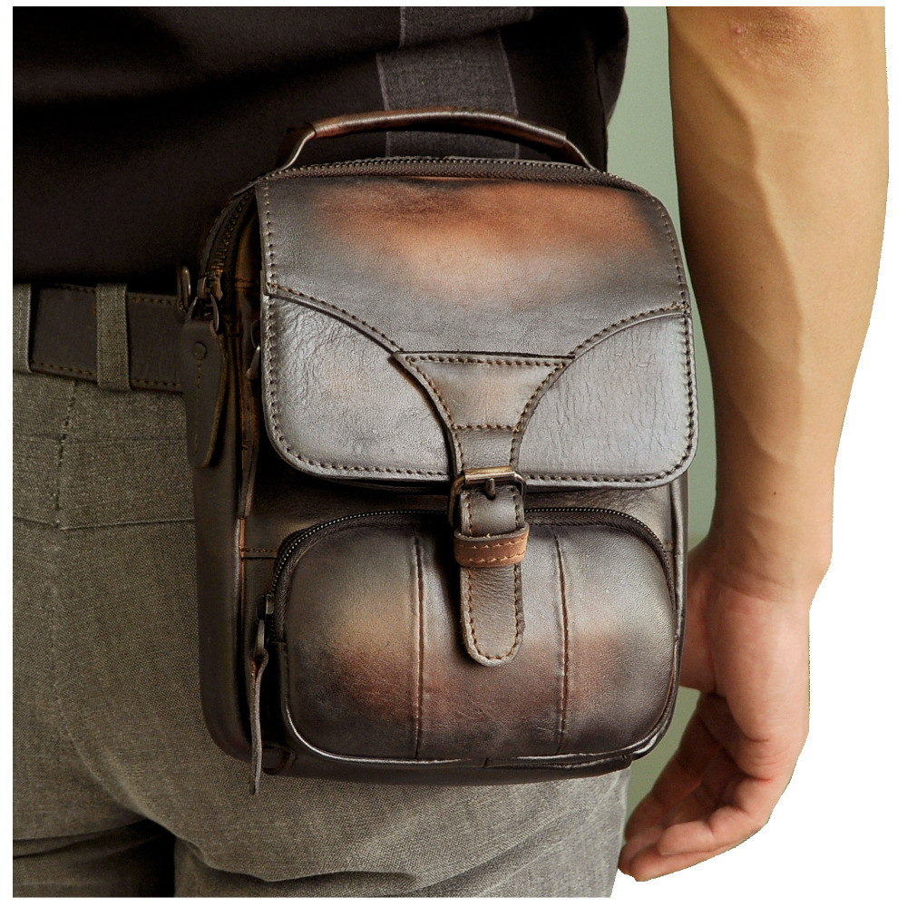 Fashion Real Leather Male Casual Multifunction Waist Belt Bag Messenger bag Design Satchel Cross-body Shoulder bag For Men 2074cFashion Real Leather Male Casual Multifunction Waist Belt Bag Messenger bag Design Satchel Cross-body Shoulder bag For Men 2074c