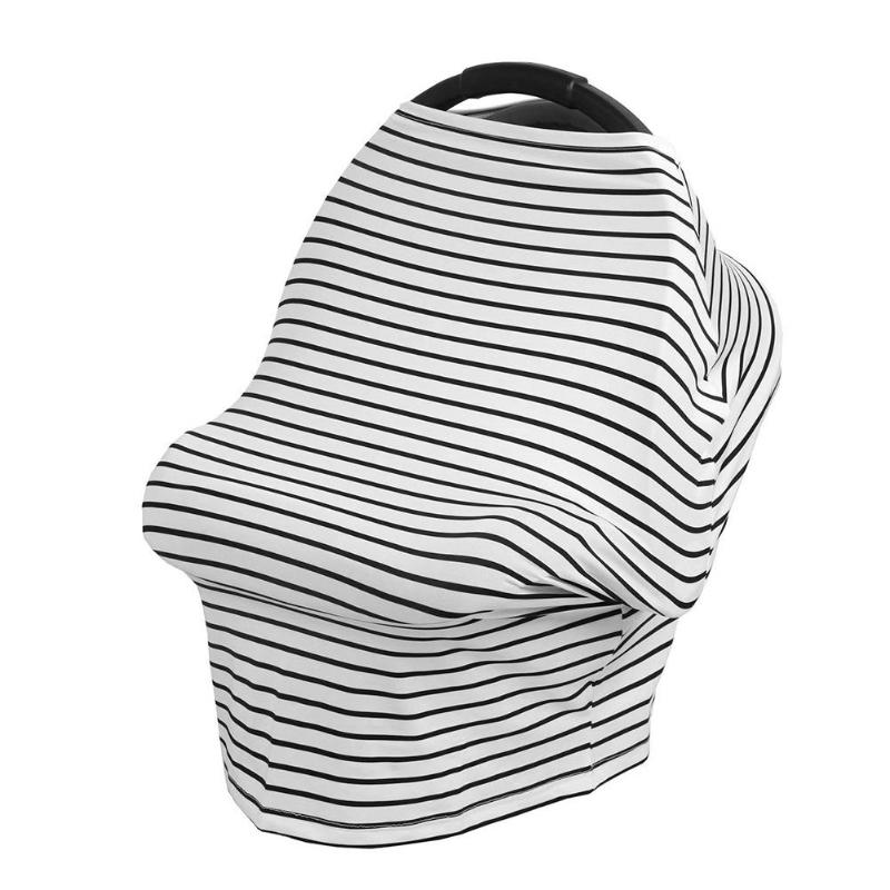 Mom Stripe Breathable Multi-Use Nursing Cover Scarf Women Breastfeeding Udder Covers Breast Blanket Baby Car Seat Stroller Cover