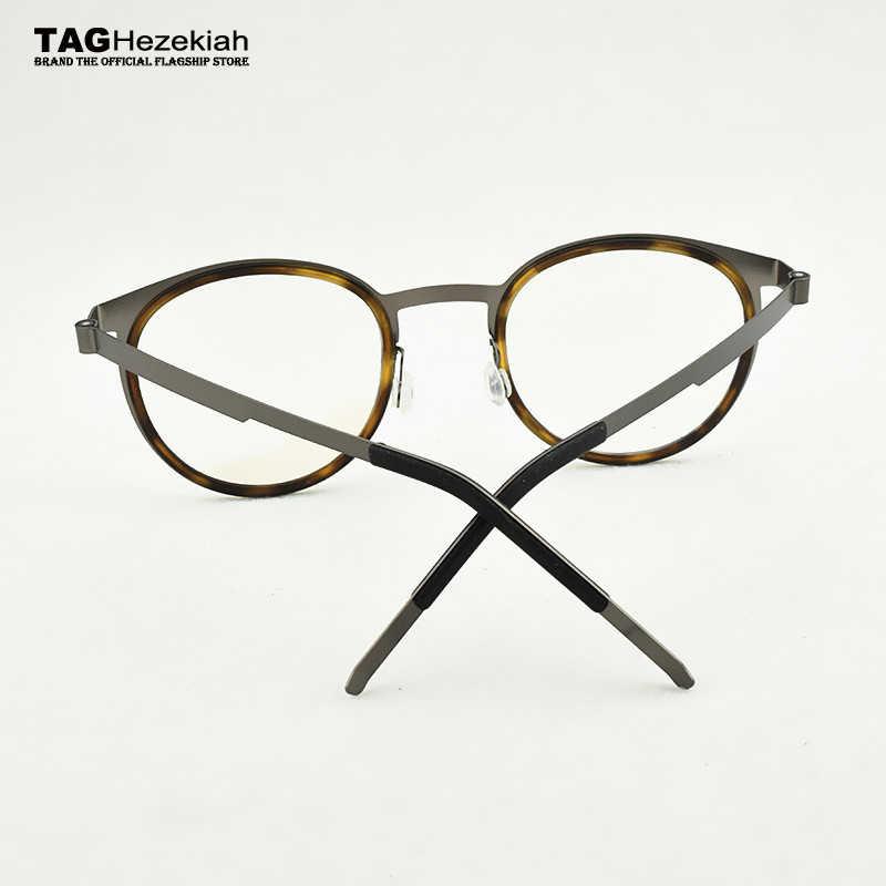 2019 Putaran Bingkai Kacamata Pria Fashion Retro Merek Mata Bingkai Kacamata untuk Pria Bisnis Ultralight Komputer Miopia Tontonan Rentang