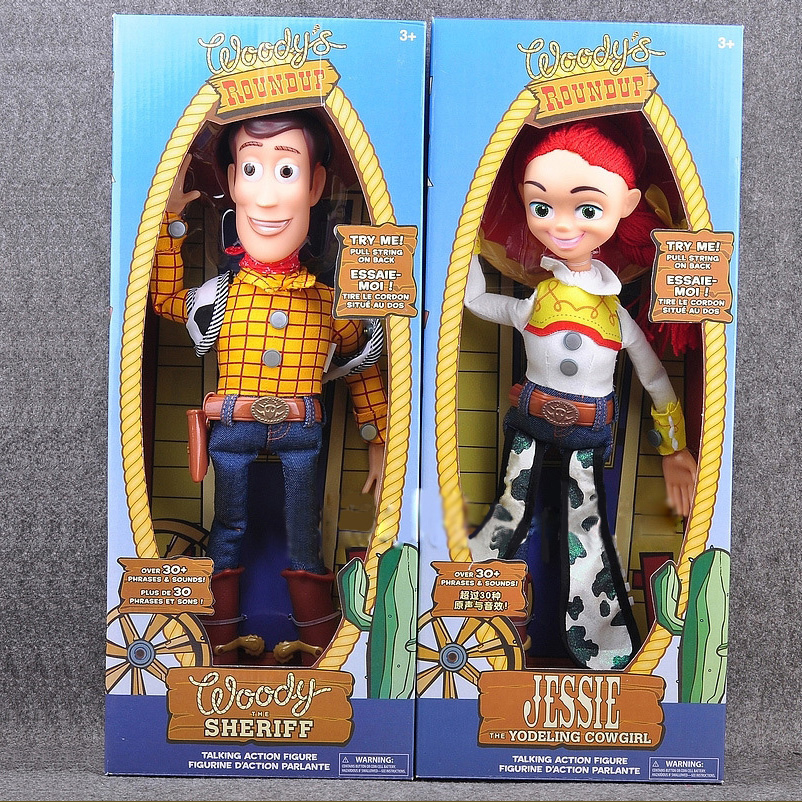 2019  Toy Story 4 Talking Jessie Woody PVC Action Toy Figures Model Toys Children Birthday Gift Collectible Doll Free Shipping