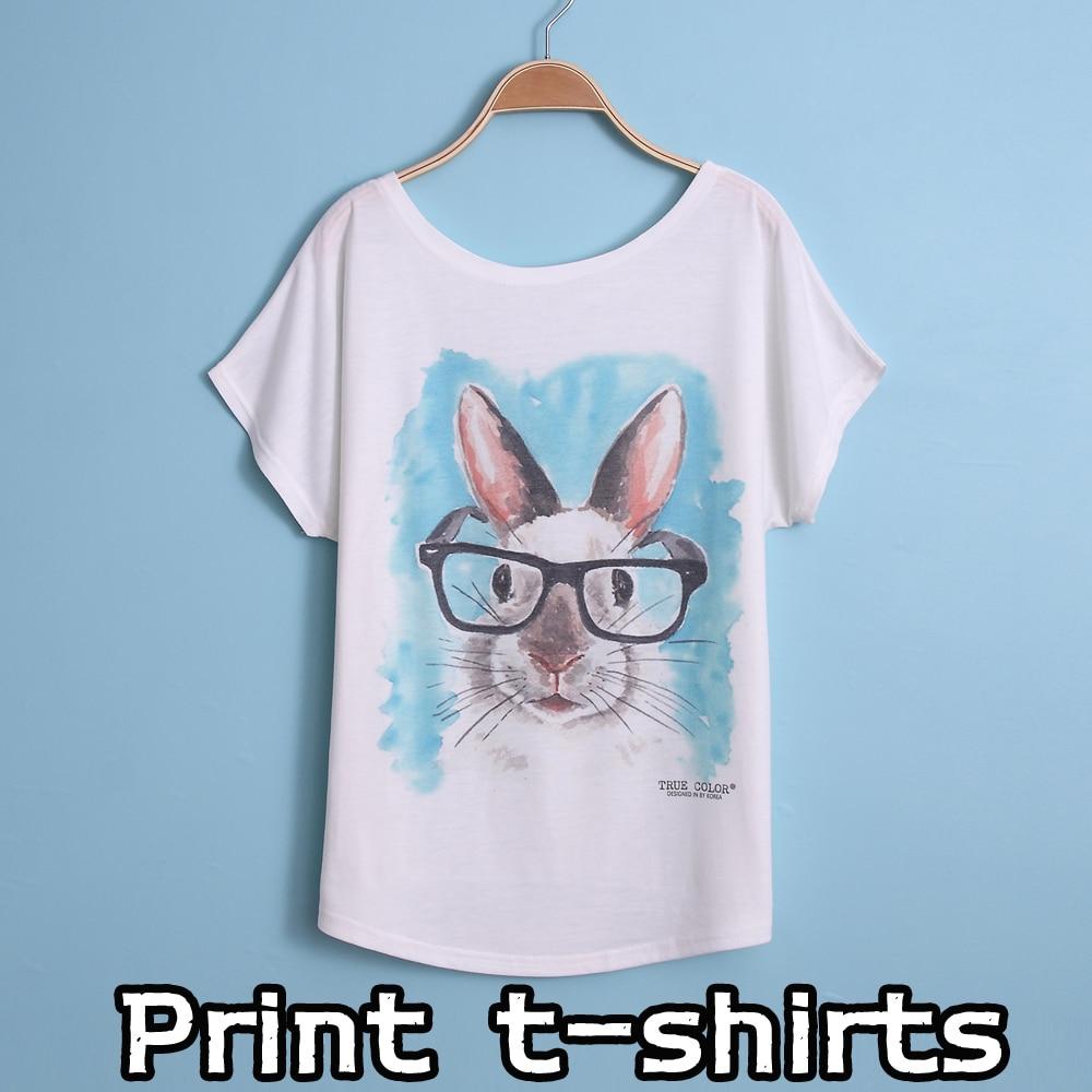 New printing t shirts short sleeves women 39 s t shirt print for Single print t shirt