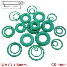 CS 4 мм OD13-100mm зеленый FKM (Viton фтора резиновое кольцо уплотнительное кольцо Нефть уплотнительной прокладкой