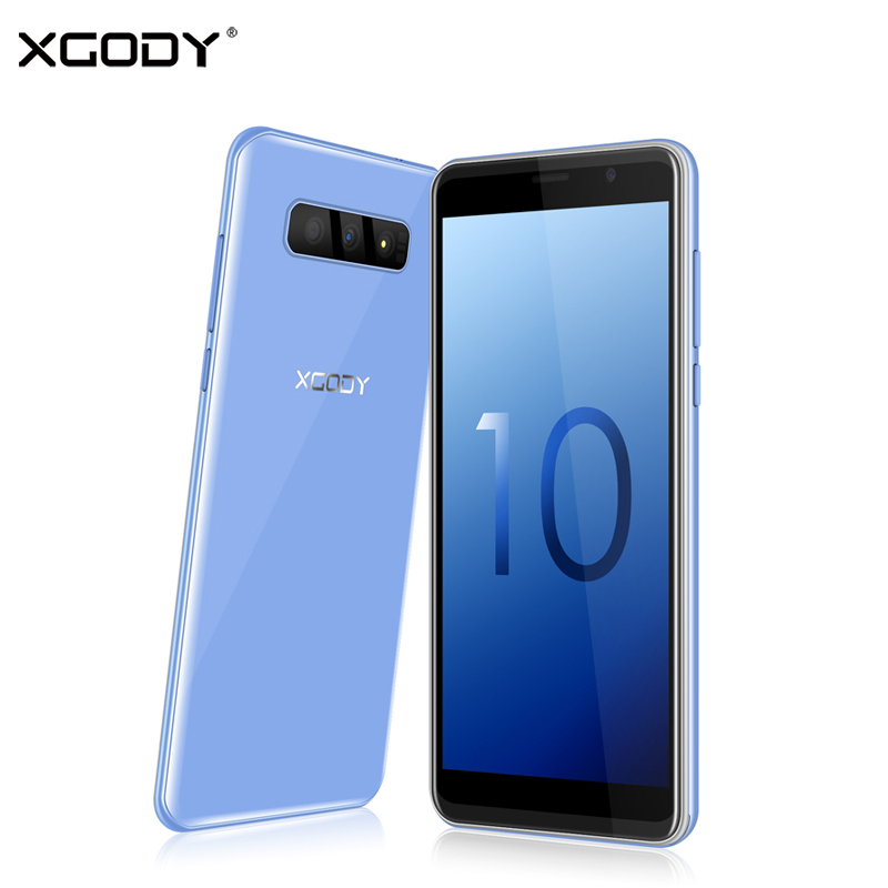XGODY S10 Smartphone Android 8.1 2GB 16GB 5.5 Inch 18:9 Full Screen Mobile Phone MT6580 Quad Core Dual Sim 5MP 2500mAh Cellphone