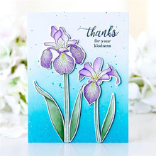 Eastshape Clivia Flowers Metal Cutting Dies for Scrapbooking Card Making Photo Craft Flower and Clear Stamps 7*10.5CM