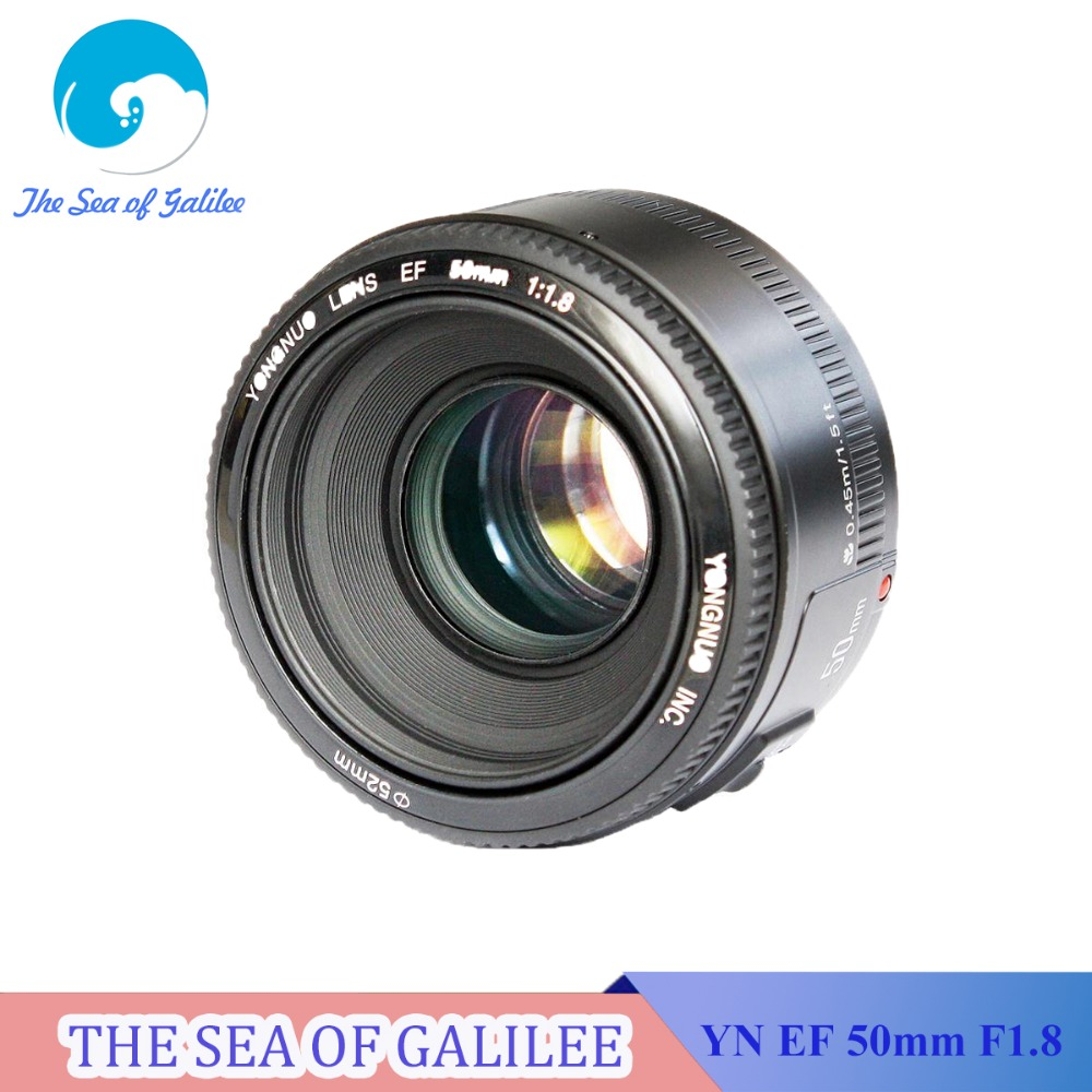 In Stock! YONGNUO YN 50mm F1.8 Lens Large Aperture Auto Focus Lens 50mm/f1.8 for Canon EOS DSLR Cameras