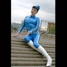 rubber latex police uniform teddies body stocking army man military police