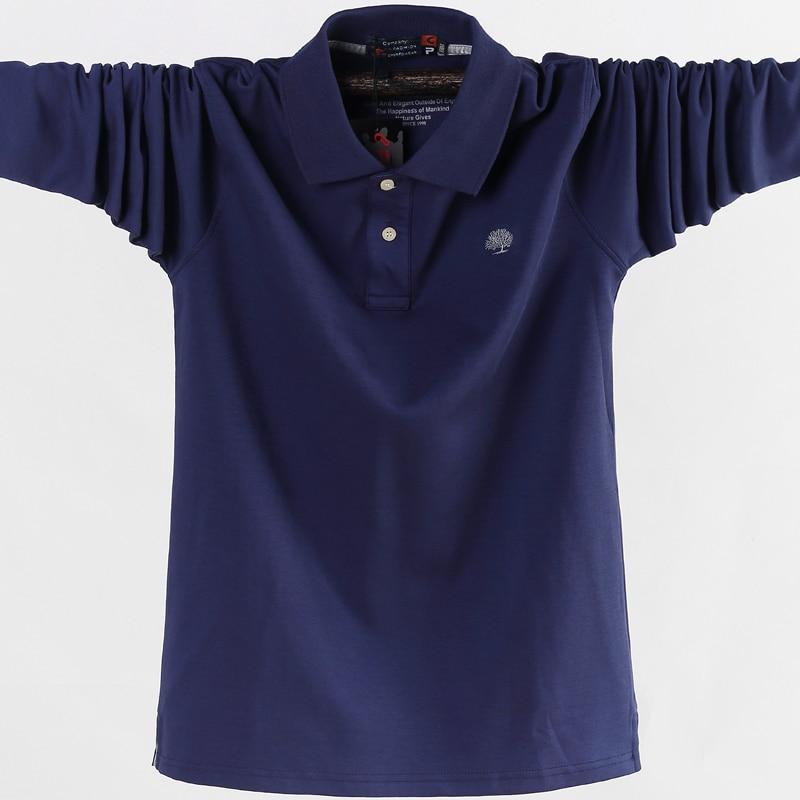 Euro Size 4XL 5XL Men's   Polo   Shirts high quality cotton casual long sleeve   polo   shirts men brand clothing   polo   man's mark