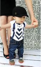 2016 Nouvelle Mode Bébé Garçons Vêtements Toddle Enfants À Manches Courtes Barboteuse et Jean 2 pcs Bébé Vêtements Ensemble
