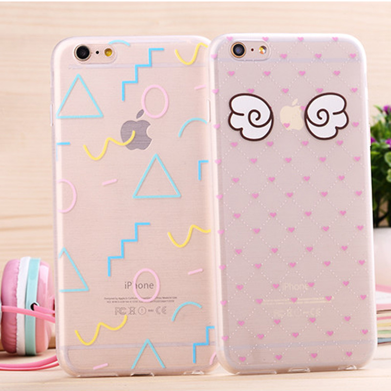 Hot free shipping flower /Tie /Stars /Leaf/ Milk box Pattern soft Case Cover for iphone 6 4.7 inch phone shell cSJK0014