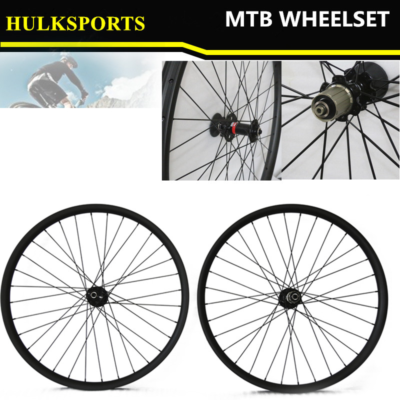 26er carbon mountain bike wheels,26er Disc hub carbon wheel,Down hill carbon fiber mtb wheelset 26inch with quick release carbon mtb 650b rims stiffer dh bike part 27 5er 35x25mm wide down hill jumping racing ride excellent cycling parts store online