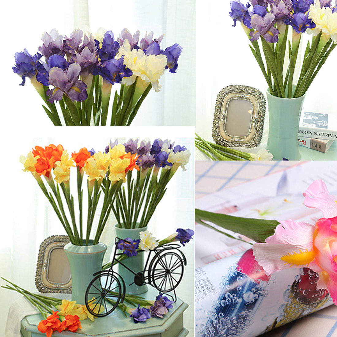 Artificial flower irish iris flower branch for spring wedding decor artificial flower irish iris flower branch for spring wedding decor party home table decoration flores fake irish flowers in artificial dried flowers from izmirmasajfo