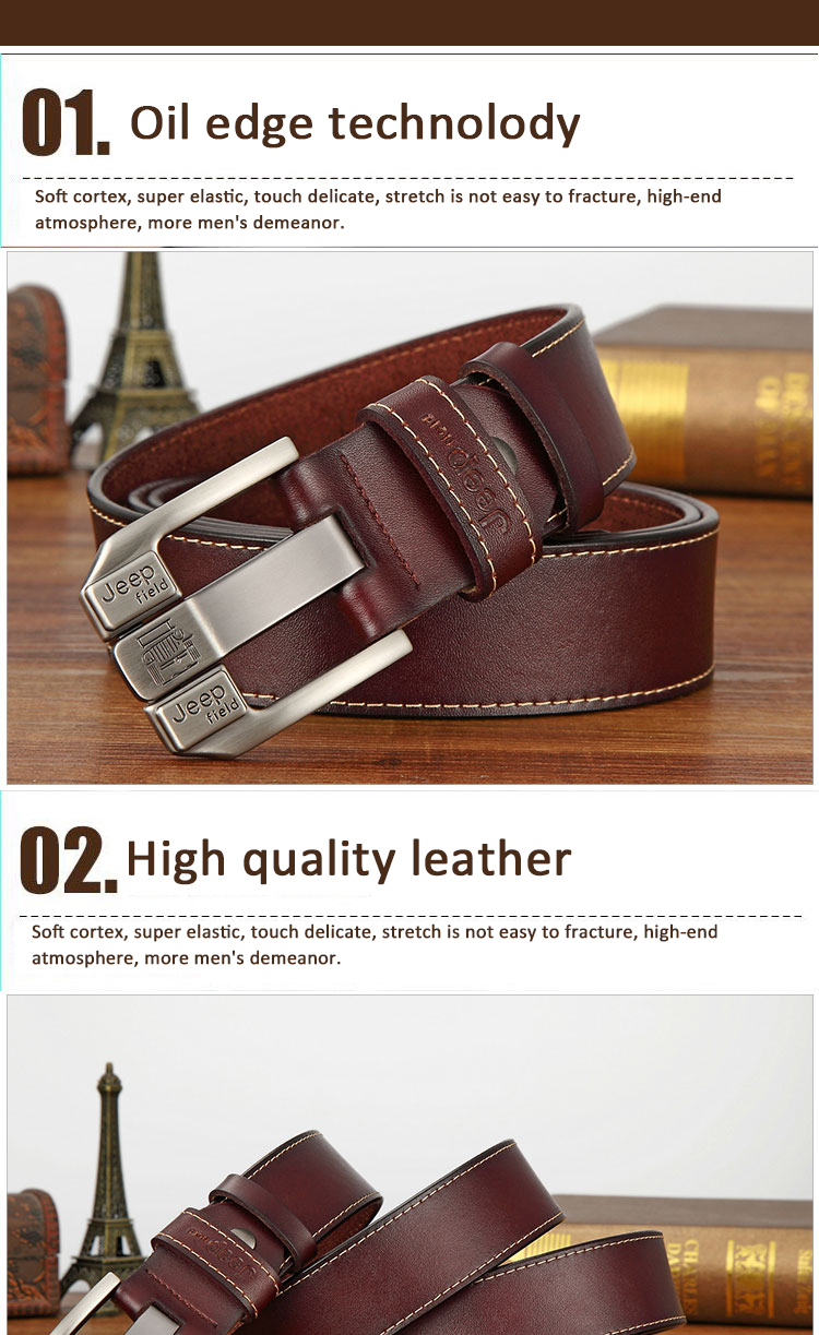 (5)Designer men's belts for men belt genuine leather High quality famous brand Pin Buckle Strap Luxury Male Belts Man Belt Jeans