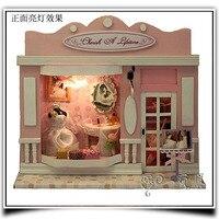D0085 Dzieci DIY Dom Montaż Zestawu Model Miniatura DIY Drewniany Dom dla Lalek W Meble Dla Dzieci mini sklep