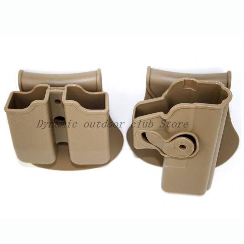 Image 5 - Tactical Hunting IMI Holster Glock 17 19 Belt Loop Paddle Platform Gun Pistol Holsters with Magazine Clip Pouch Hunting Gear-in Holsters from Sports & Entertainment