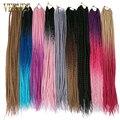 VERVES 24-дюймовая косичка с Омбре, вязанные косички, 22 корня/упаковка, синтетические косички для наращивания волос, Термостойкое волокно, оптом...