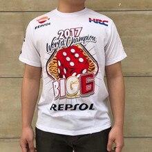 2018 Nova MOTO GP Motociclismo Marquez Camisa 93 Algodão de Manga Curta T-Shirt Branco/Vermelho