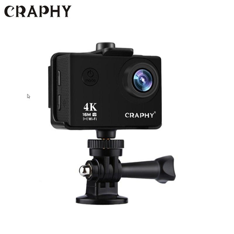 все цены на Craphy 4K WIFI V3 2 Inch LCD Screen 64G 170 Degree 30M Waterproof Sports Camera WIthin SD Card Ultra HD Action Camera онлайн